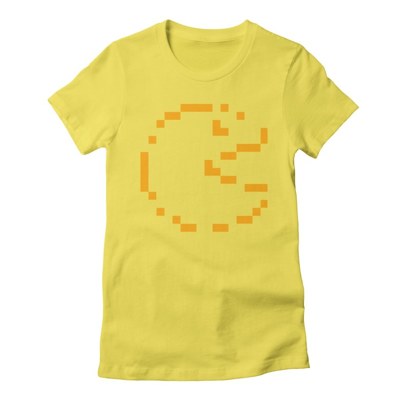 Pacman-Man Women's Fitted T-Shirt by Silli Philli Produktionz