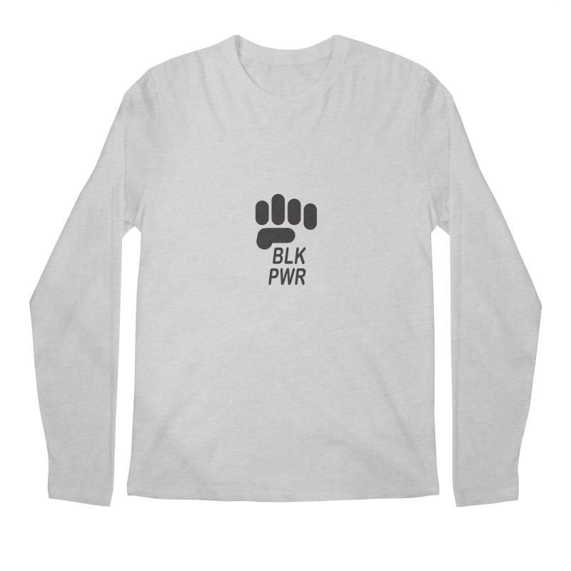 BLKPWR Fist Men's Longsleeve T-Shirt by Silli Philli Produktionz   Custom Prints