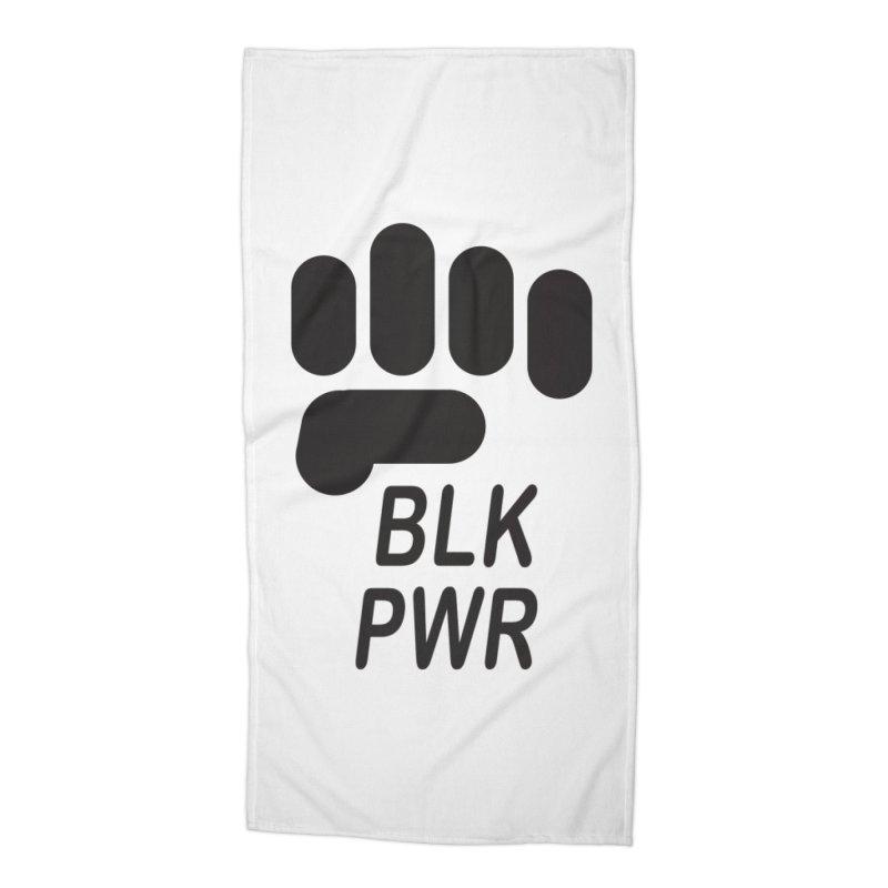 BLKPWR Fist Accessories Beach Towel by Silli Philli Produktionz   Custom Prints