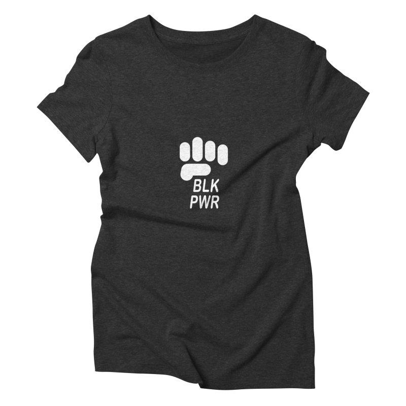 BLKPWR Fist on Black Women's T-Shirt by Silli Philli Produktionz   Custom Prints
