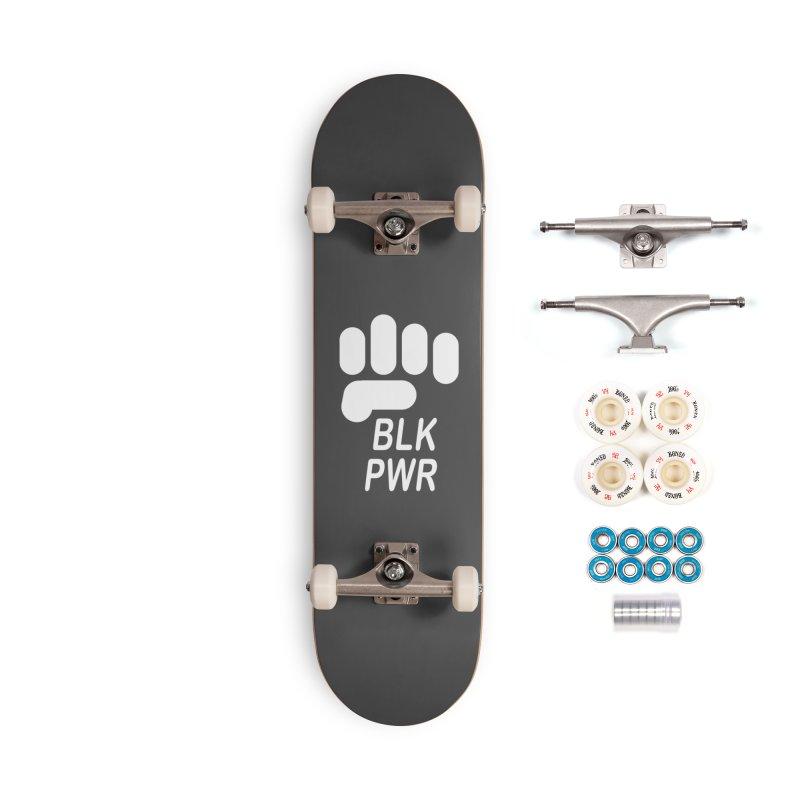 BLKPWR Fist on Black Accessories Skateboard by Silli Philli Produktionz | Custom Prints