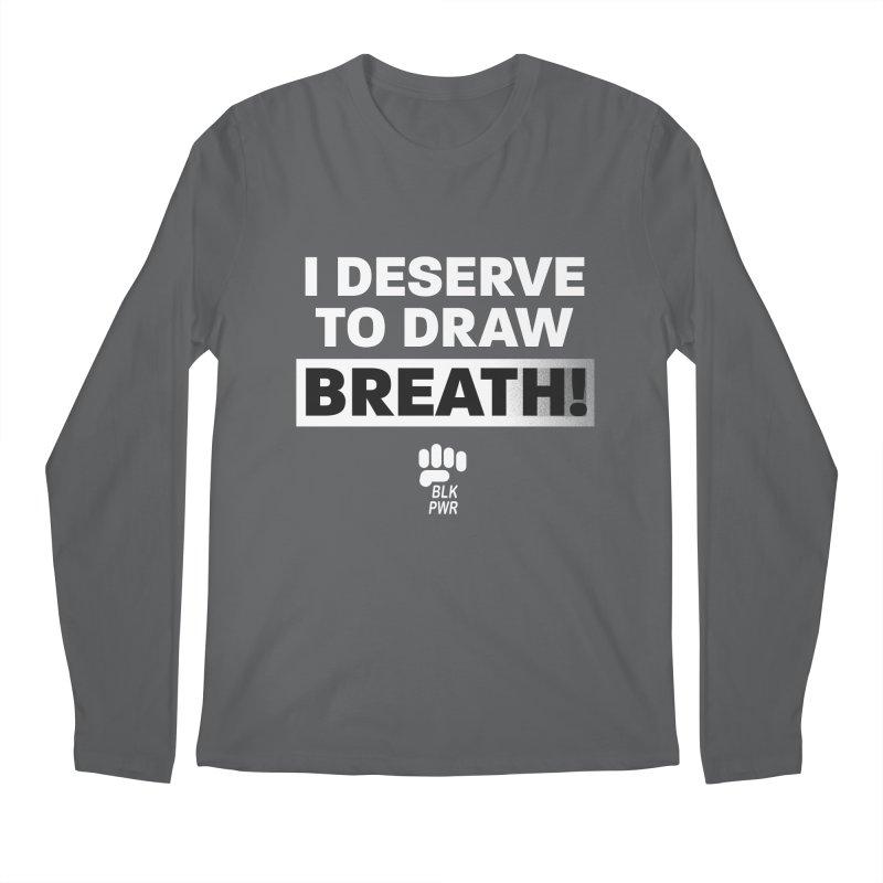 BLKPWR - Draw Breath - White Men's Longsleeve T-Shirt by Silli Philli Produktionz | Custom Prints