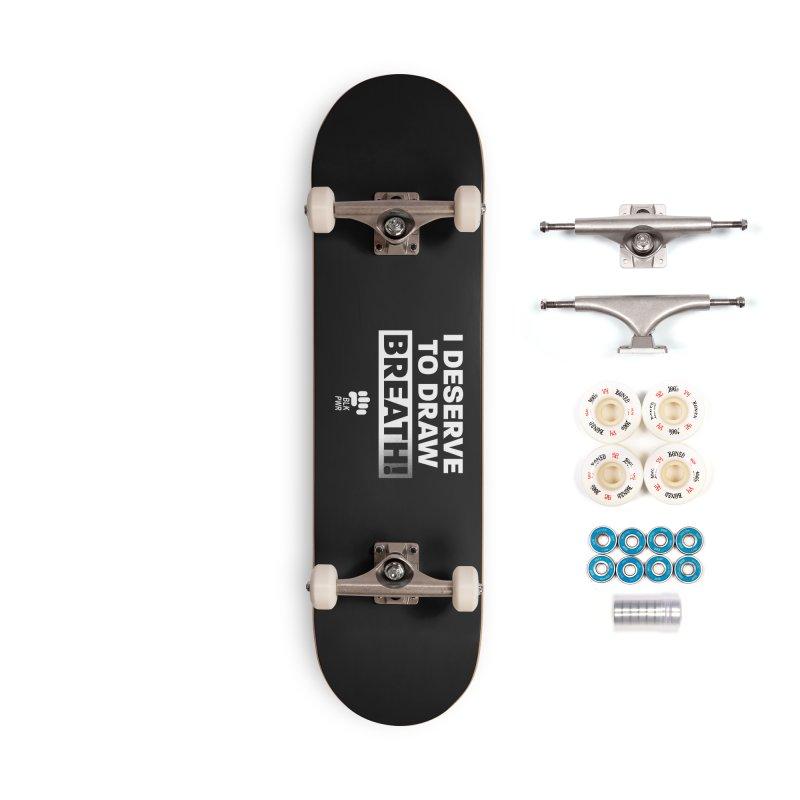 BLKPWR - Draw Breath - White Accessories Skateboard by Silli Philli Produktionz | Custom Prints