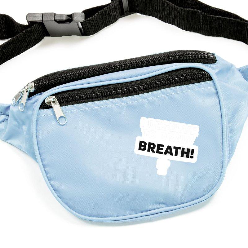 BLKPWR - Draw Breath - White Accessories Sticker by Silli Philli Produktionz | Custom Prints