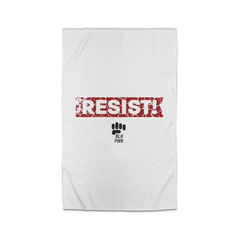 BLKPWR - RESIST! - Black Home Rug by Silli Philli Produktionz | Custom Prints