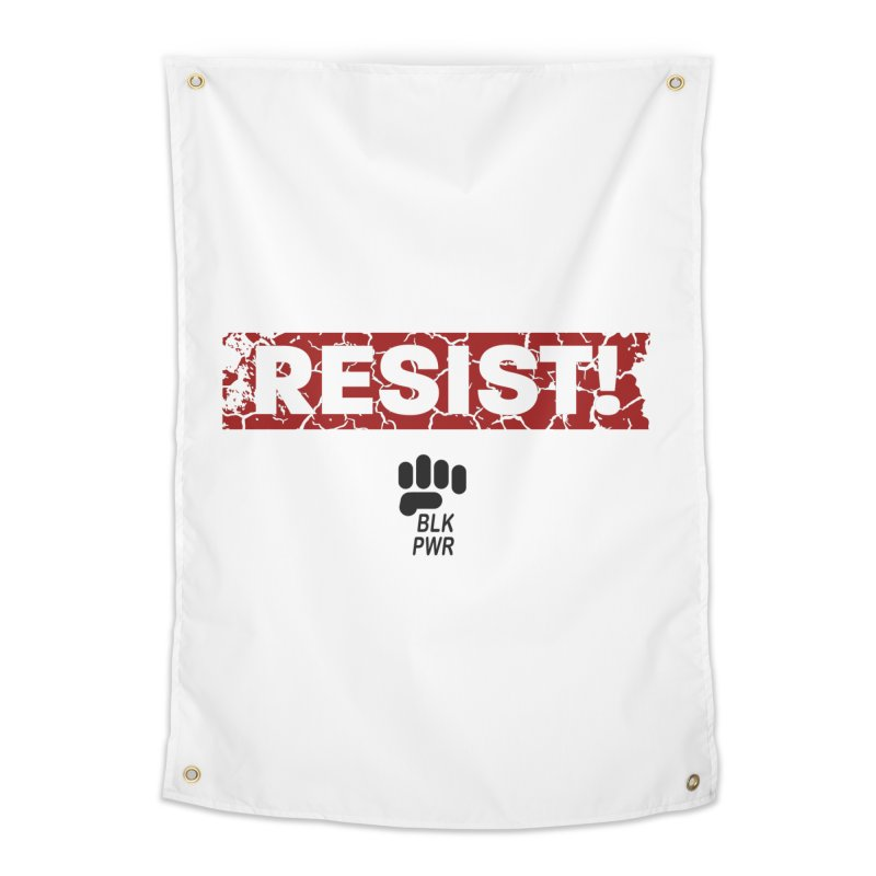BLKPWR - RESIST! - Black Home Tapestry by Silli Philli Produktionz | Custom Prints
