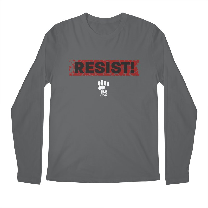 BLKPWR - RESIST! - White Men's Longsleeve T-Shirt by Silli Philli Produktionz | Custom Prints