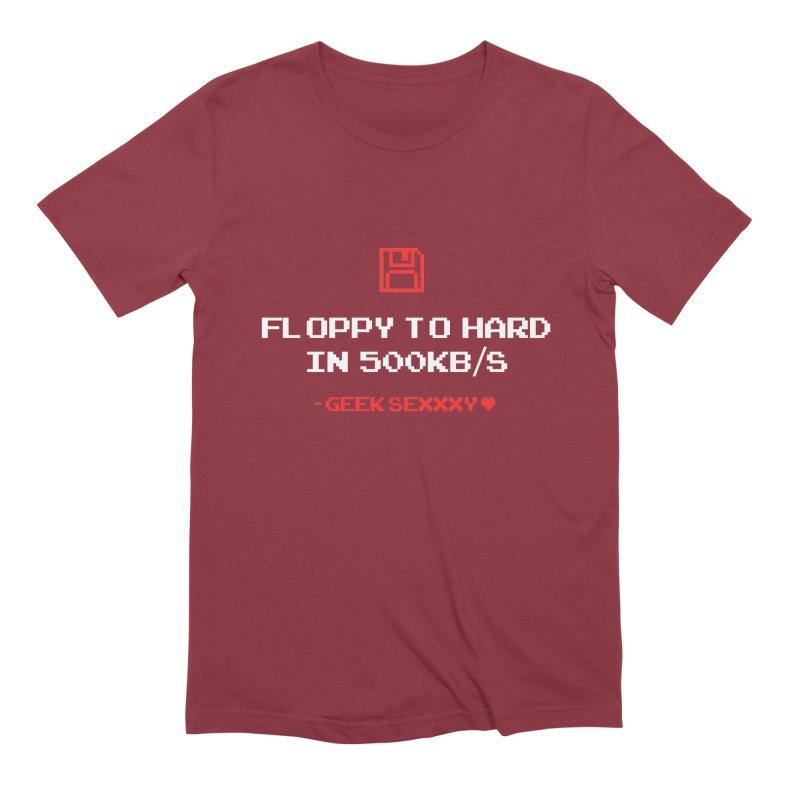 Geek Sexxxy | Floppy to Hard  - Dark Men's Extra Soft T-Shirt by Silli Philli Produktionz