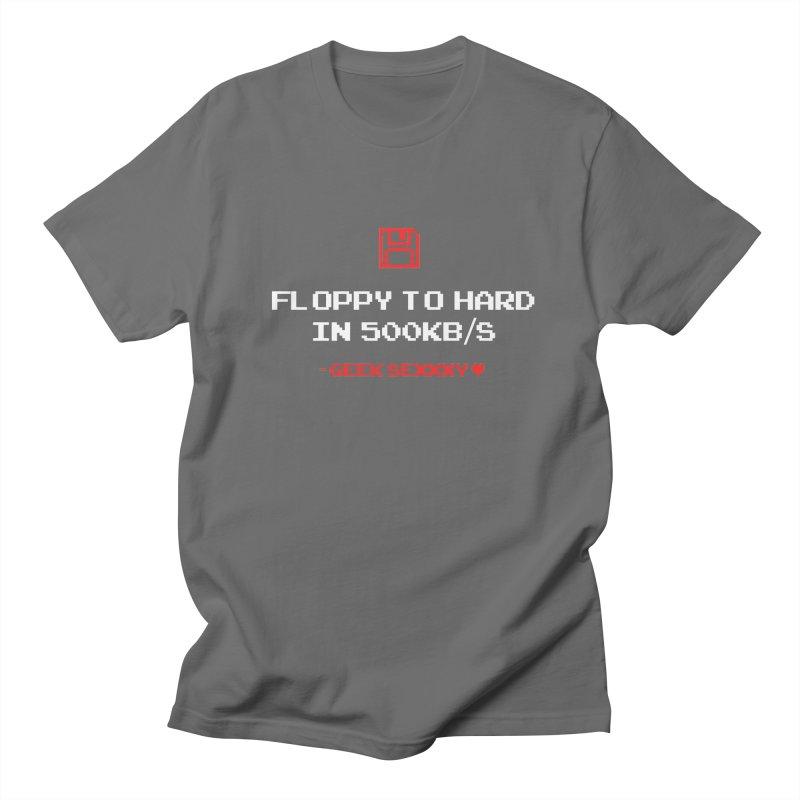 Geek Sexxxy | Floppy to Hard  - Dark Women's T-Shirt by Silli Philli Produktionz