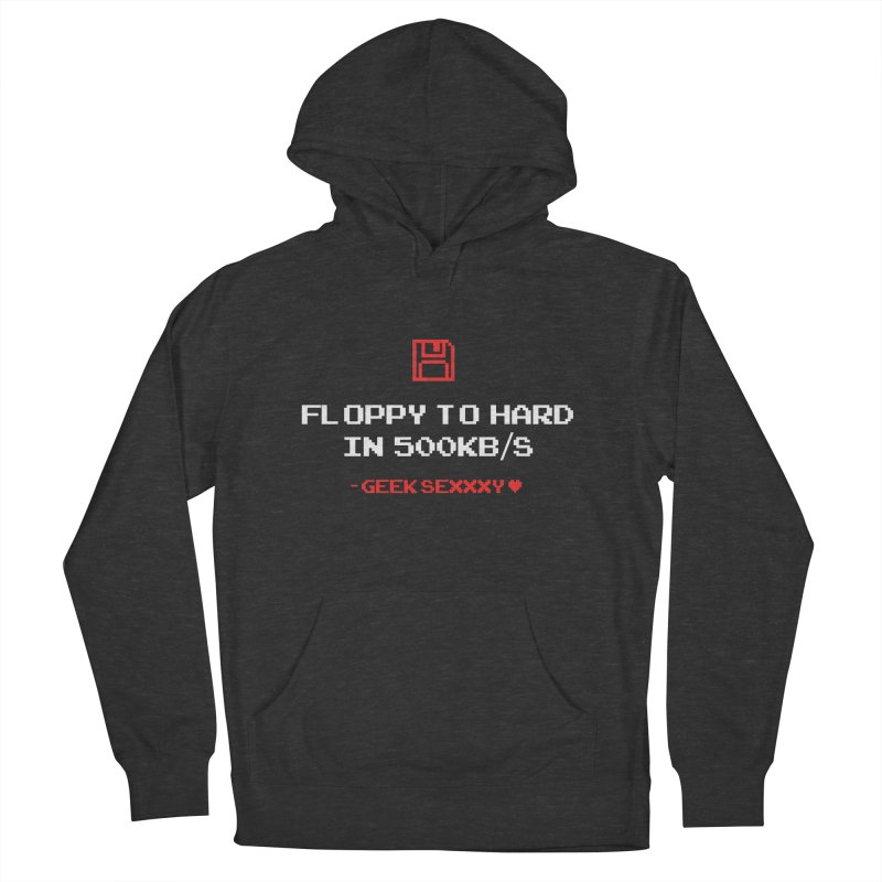 Geek Sexxxy | Floppy to Hard  - Dark Men's French Terry Pullover Hoody by Silli Philli Produktionz