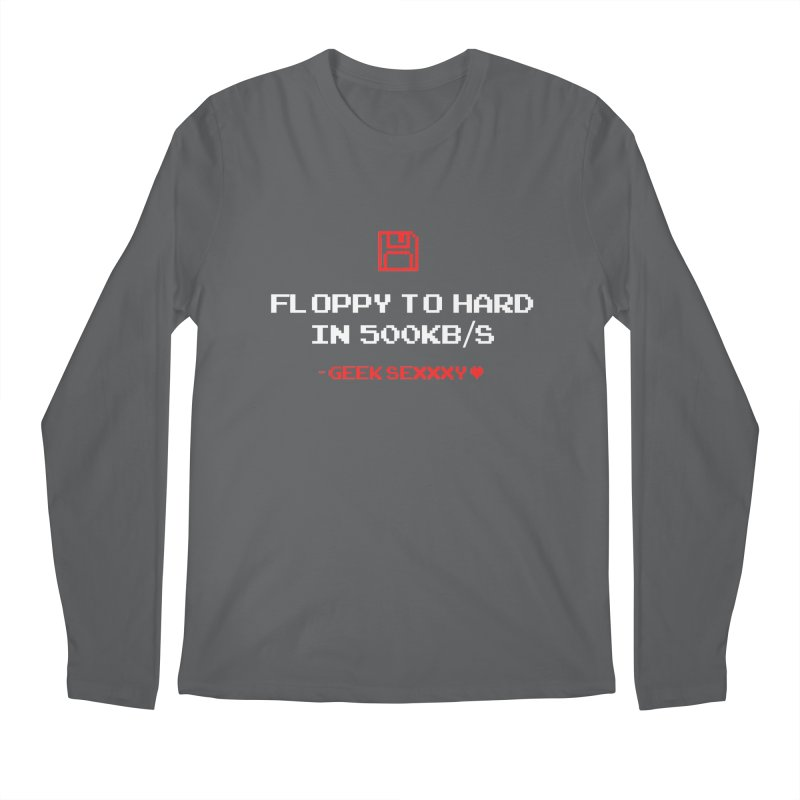Geek Sexxxy | Floppy to Hard  - Dark Men's Regular Longsleeve T-Shirt by Silli Philli Produktionz