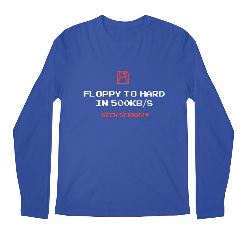 Geek Sexxxy | Floppy to Hard  - Dark Men's Regular Longsleeve T-Shirt by Silli Philli Produktionz