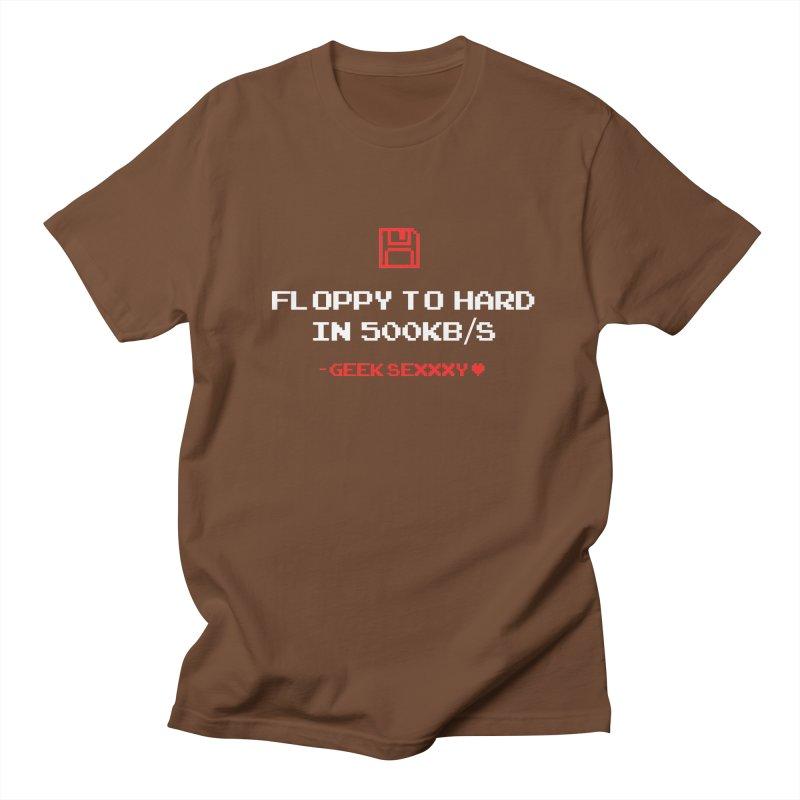 Geek Sexxxy | Floppy to Hard  - Dark Men's Regular T-Shirt by Silli Philli Produktionz