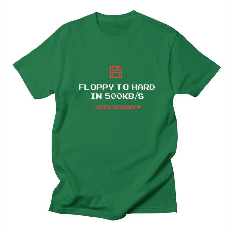 Geek Sexxxy | Floppy to Hard  - Dark Women's Regular Unisex T-Shirt by Silli Philli Produktionz
