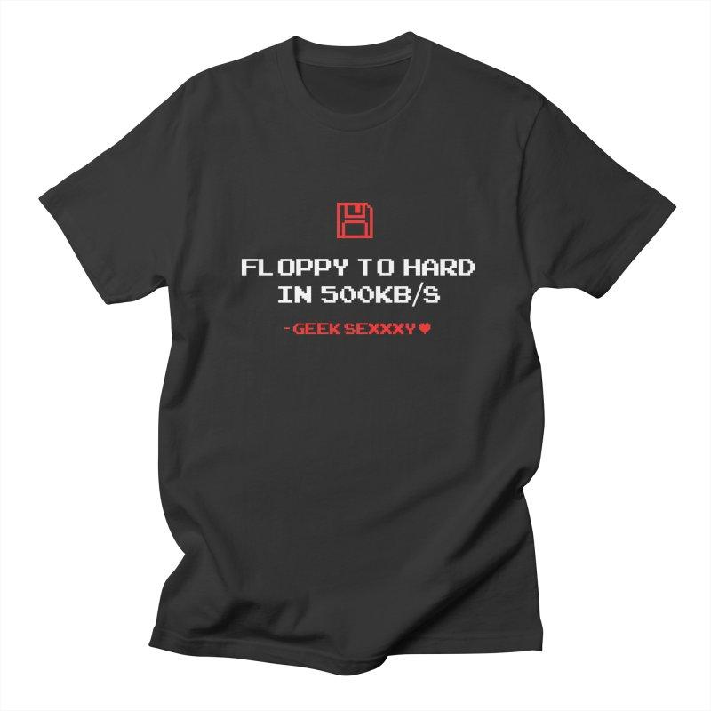 Geek Sexxxy   Floppy to Hard  - Dark Men's Regular T-Shirt by Silli Philli Produktionz