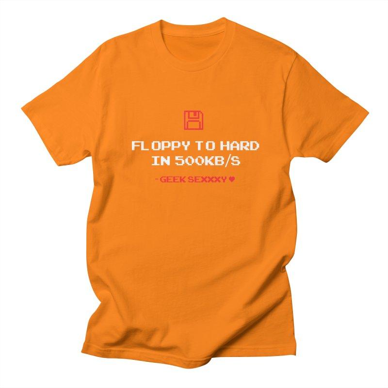 Geek Sexxxy   Floppy to Hard  - Dark Women's Regular Unisex T-Shirt by Silli Philli Produktionz