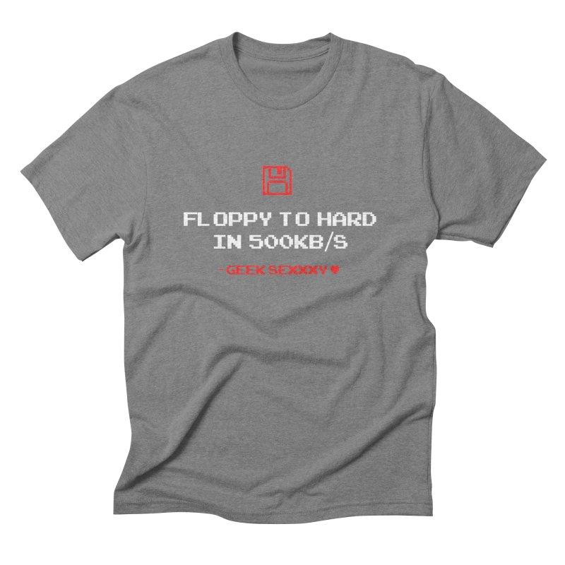 Geek Sexxxy | Floppy to Hard  - Dark Men's Triblend T-Shirt by Silli Philli Produktionz