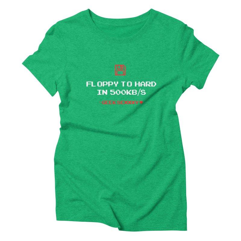 Geek Sexxxy   Floppy to Hard  - Dark Women's Triblend T-Shirt by Silli Philli Produktionz