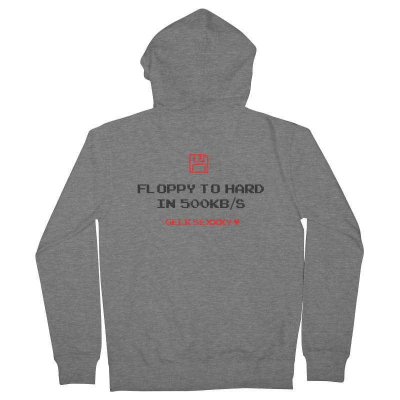 Geek Sexxxy | Floppy to Hard - Light Men's French Terry Zip-Up Hoody by Silli Philli Produktionz | Custom Prints