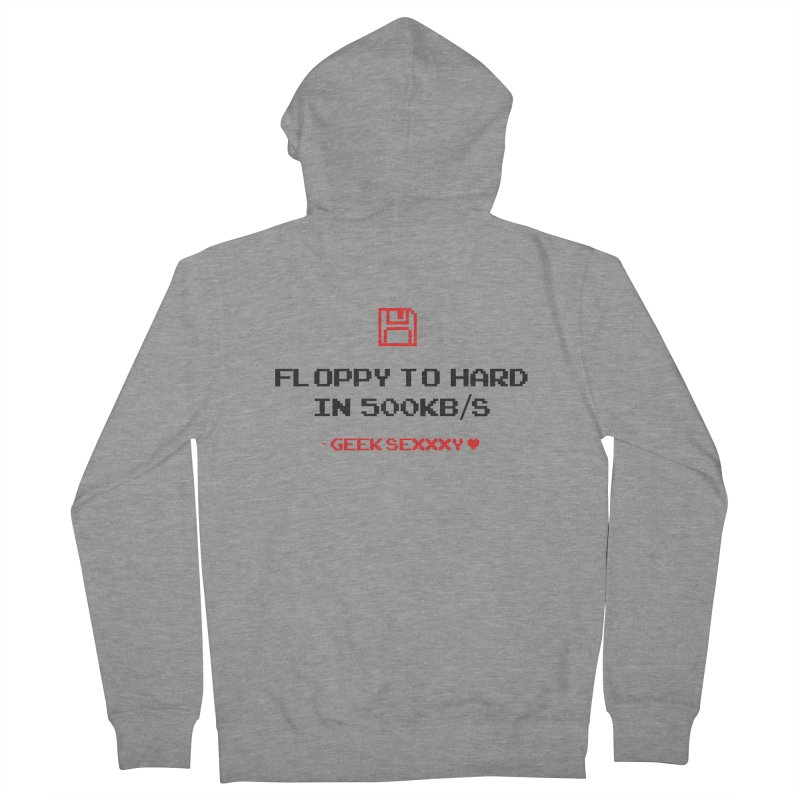 Geek Sexxxy | Floppy to Hard - Light Men's French Terry Zip-Up Hoody by Silli Philli Produktionz