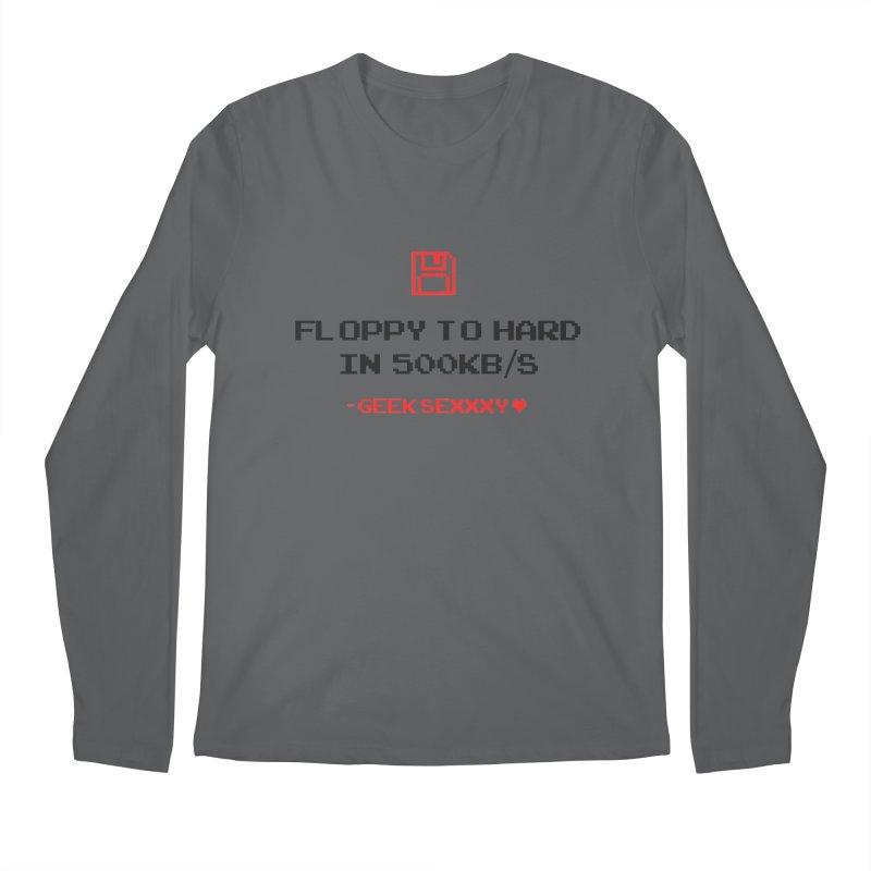 Geek Sexxxy | Floppy to Hard - Light Men's Regular Longsleeve T-Shirt by Silli Philli Produktionz