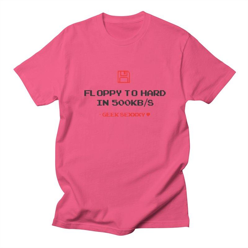Geek Sexxxy | Floppy to Hard - Light Men's Regular T-Shirt by Silli Philli Produktionz