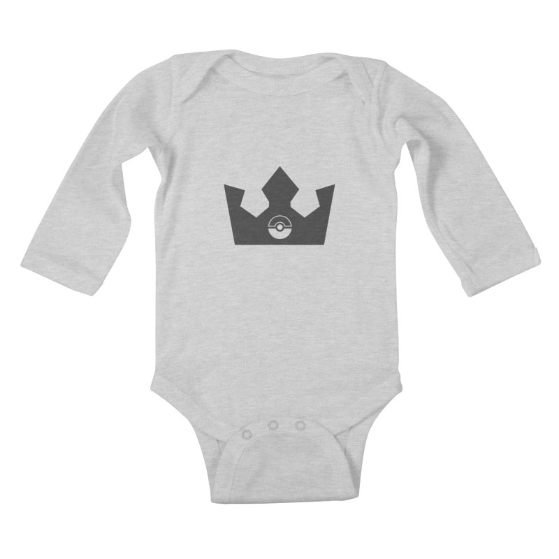 PokeMaan - King Of The Gym Kids Baby Longsleeve Bodysuit by Silli Philli Produktionz