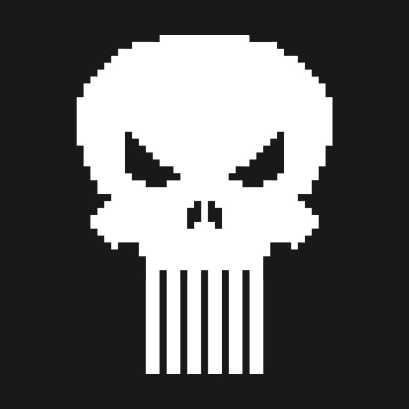 Punisher Classic - Pixel Logo Women's V-Neck by Silli Philli Produktionz | Custom Prints