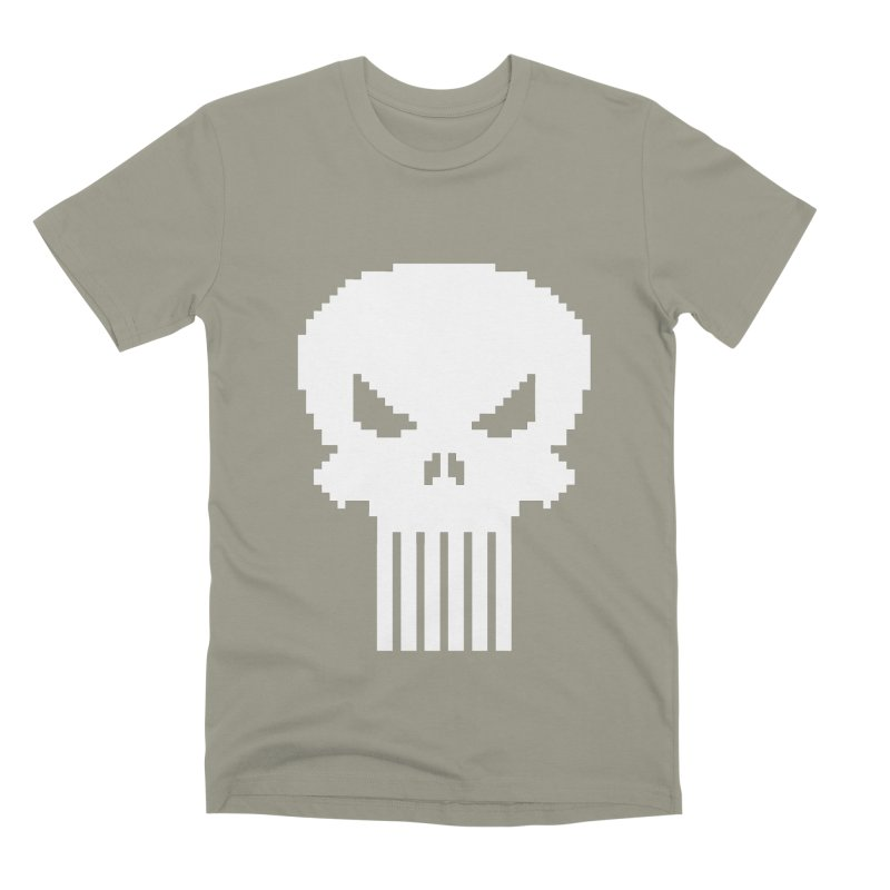 Punisher Classic - Pixel Logo Men's Premium T-Shirt by Silli Philli Produktionz