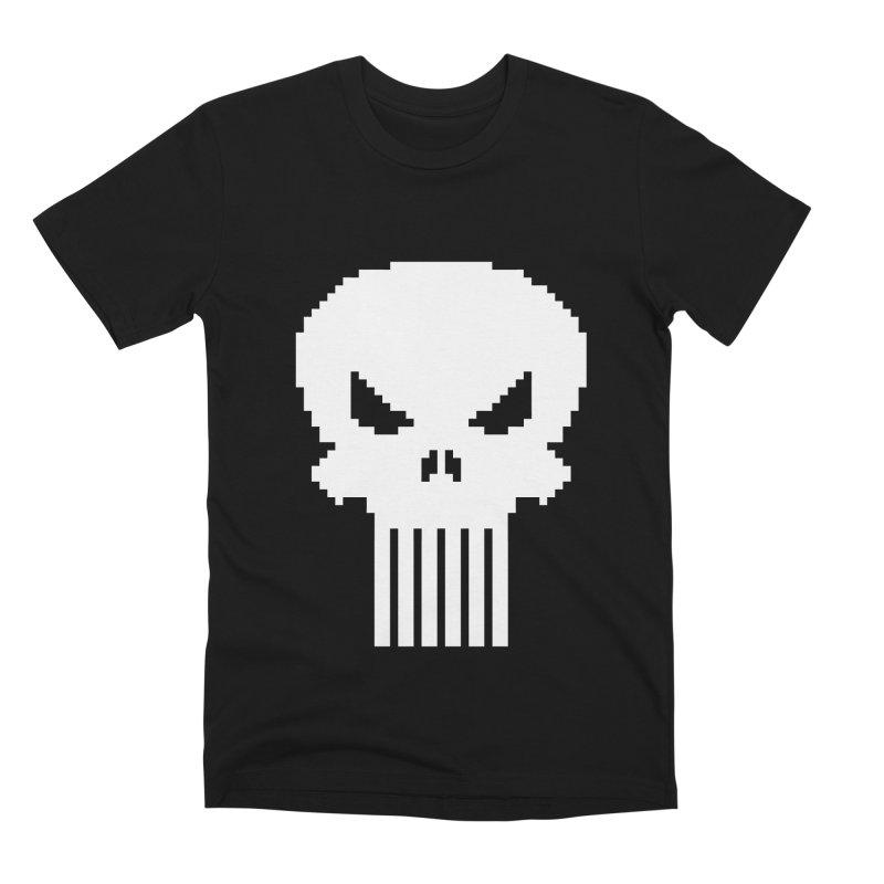 Punisher Classic - Pixel Logo Men's Premium T-Shirt by Silli Philli Produktionz