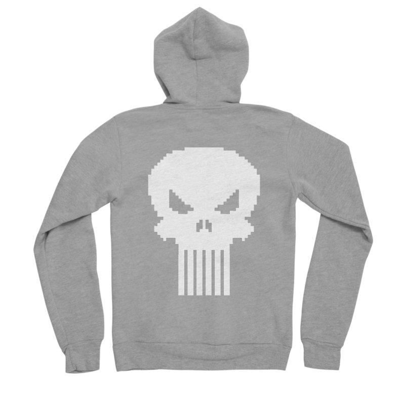 Punisher Classic - Pixel Logo Women's Sponge Fleece Zip-Up Hoody by Silli Philli Produktionz | Custom Prints