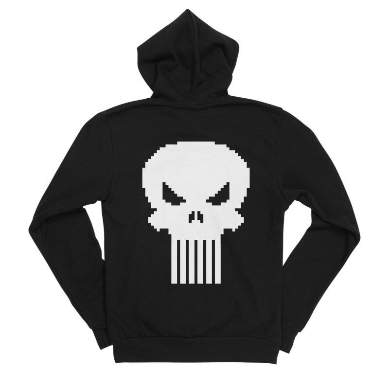 Punisher Classic - Pixel Logo Women's Sponge Fleece Zip-Up Hoody by Silli Philli Produktionz