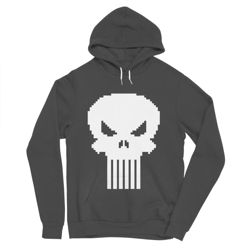 Punisher Classic - Pixel Logo Women's Sponge Fleece Pullover Hoody by Silli Philli Produktionz