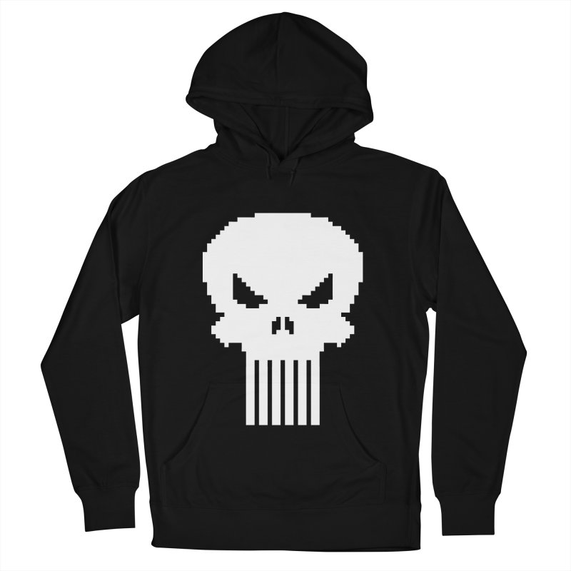 Punisher Classic - Pixel Logo Men's French Terry Pullover Hoody by Silli Philli Produktionz