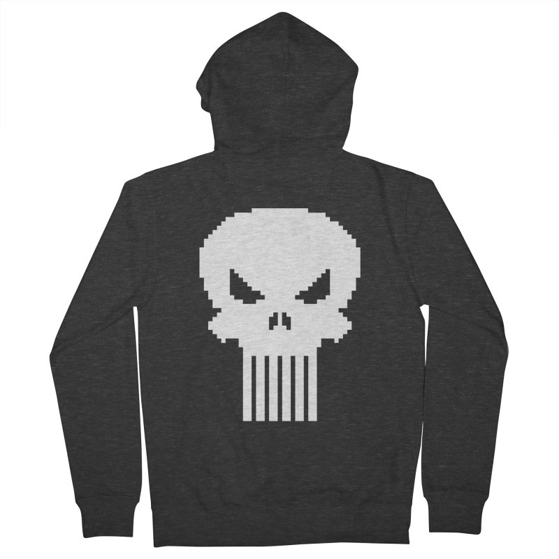 Punisher Classic - Pixel Logo Men's French Terry Zip-Up Hoody by Silli Philli Produktionz | Custom Prints