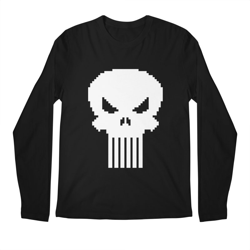 Punisher Classic - Pixel Logo Men's Regular Longsleeve T-Shirt by Silli Philli Produktionz