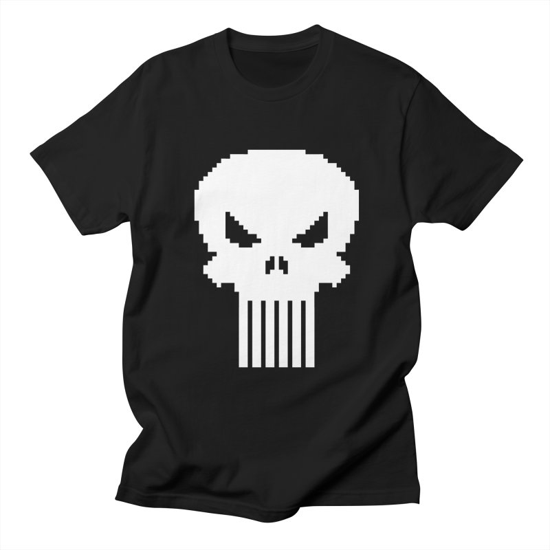 Punisher Classic - Pixel Logo Men's Regular T-Shirt by Silli Philli Produktionz