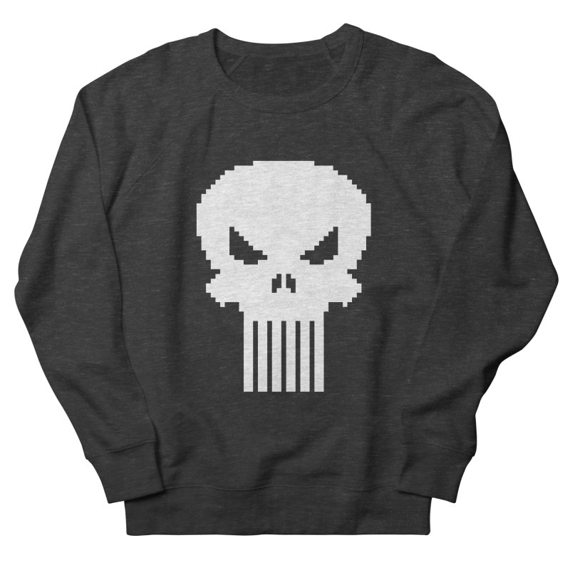 Punisher Classic - Pixel Logo Men's French Terry Sweatshirt by Silli Philli Produktionz