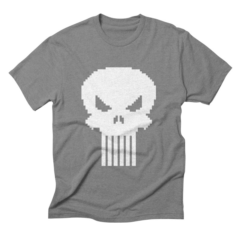 Punisher Classic - Pixel Logo Men's Triblend T-Shirt by Silli Philli Produktionz
