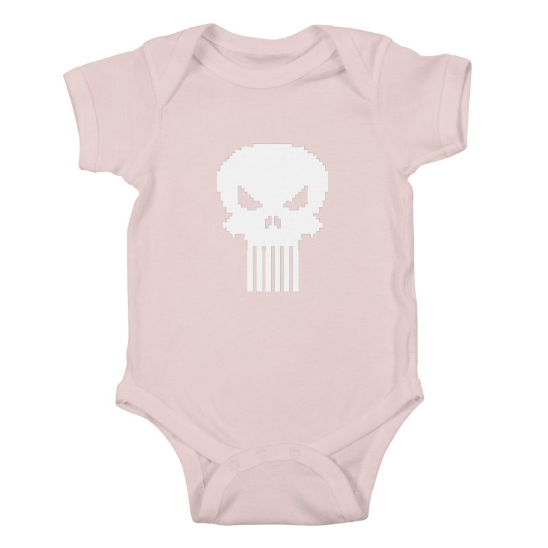 Punisher Classic - Pixel Logo Kids Baby Bodysuit by Silli Philli Produktionz