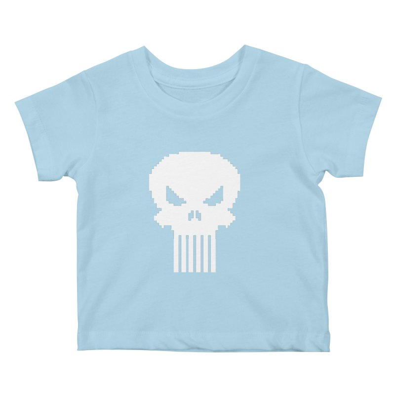 Punisher Classic - Pixel Logo Kids Baby T-Shirt by Silli Philli Produktionz