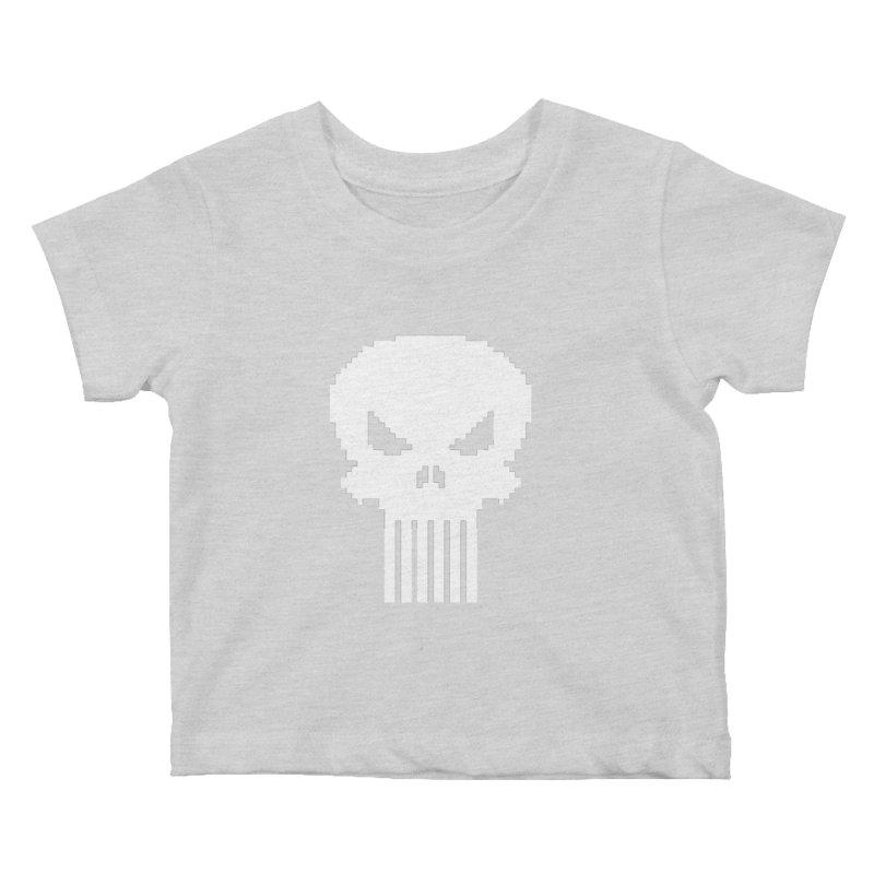 Punisher Classic - Pixel Logo Kids Baby T-Shirt by Silli Philli Produktionz