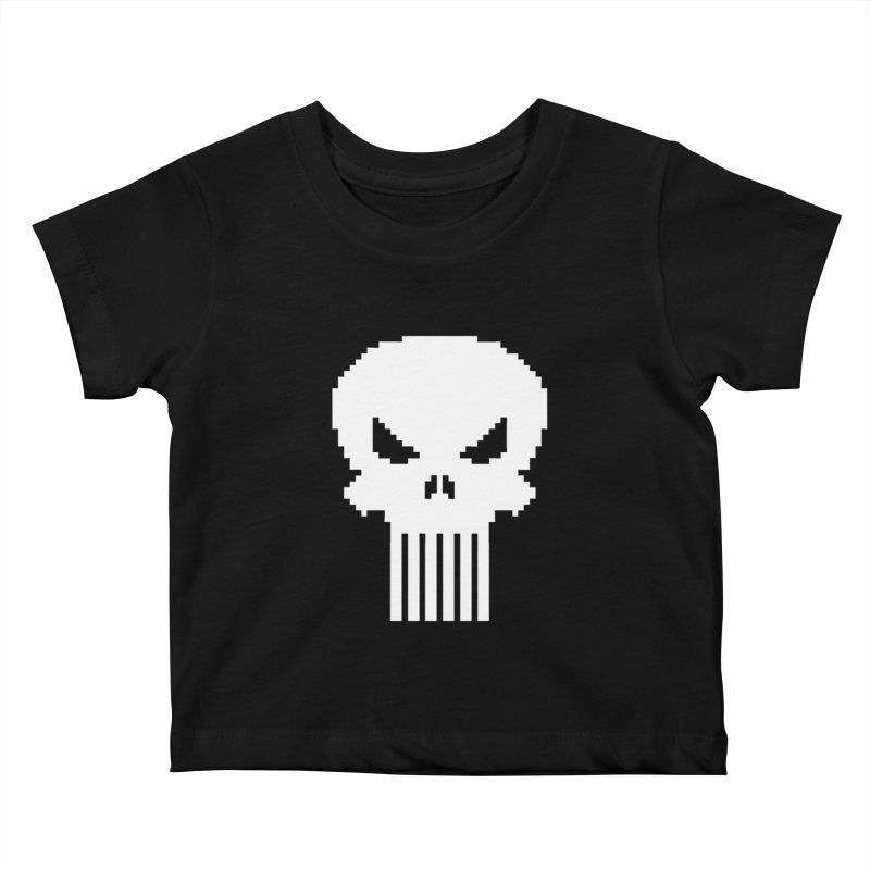 Punisher Classic - Pixel Logo Kids Baby T-Shirt by Silli Philli Produktionz | Custom Prints
