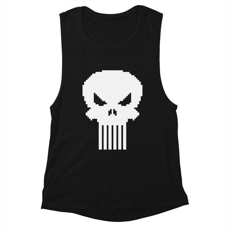 Punisher Classic - Pixel Logo Women's Tank by Silli Philli Produktionz | Custom Prints