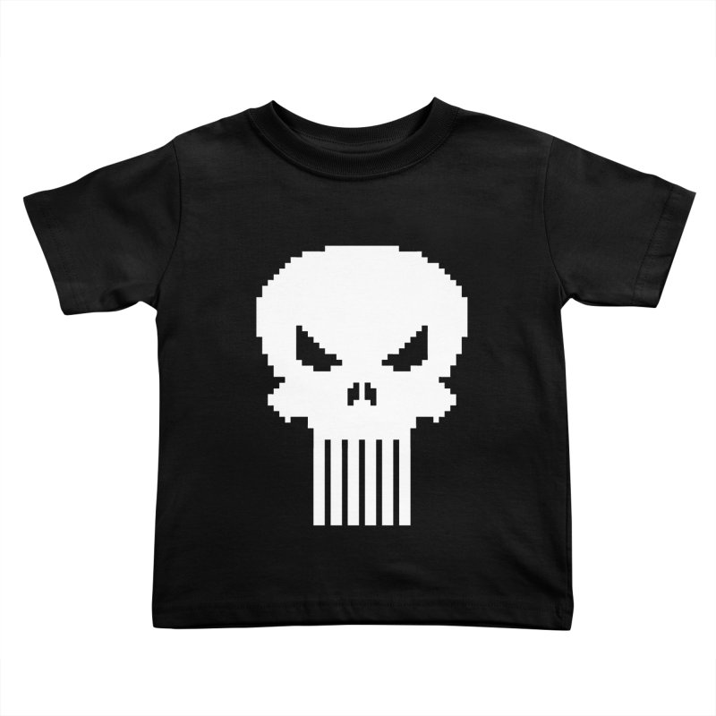 Punisher Classic - Pixel Logo Kids Toddler T-Shirt by Silli Philli Produktionz | Custom Prints