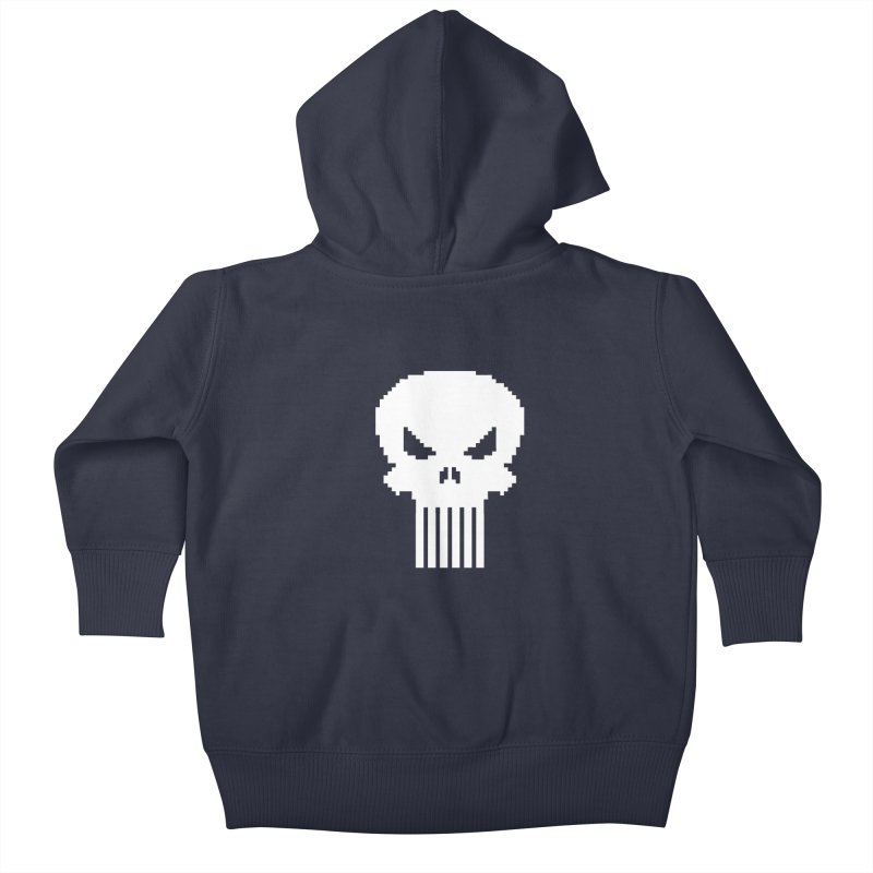 Punisher Classic - Pixel Logo Kids Baby Zip-Up Hoody by Silli Philli Produktionz