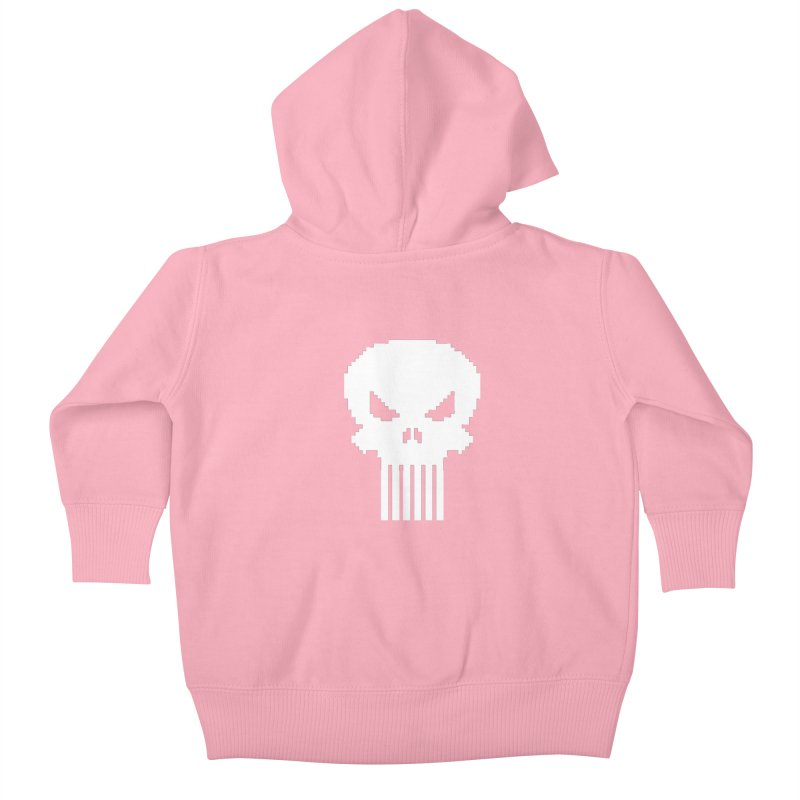 Punisher Classic - Pixel Logo Kids Baby Zip-Up Hoody by Silli Philli Produktionz | Custom Prints
