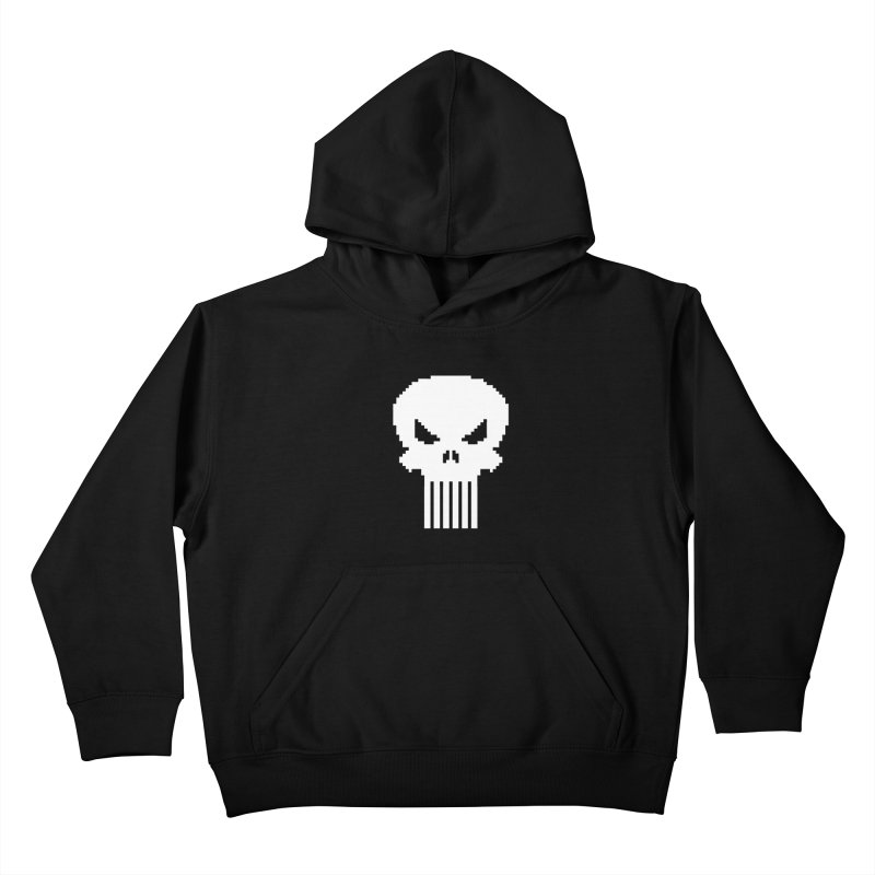 Punisher Classic - Pixel Logo Kids Pullover Hoody by Silli Philli Produktionz