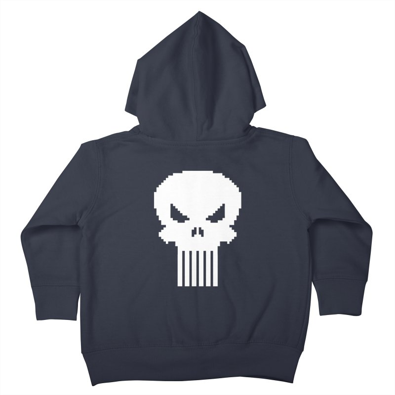 Punisher Classic - Pixel Logo Kids Toddler Zip-Up Hoody by Silli Philli Produktionz | Custom Prints