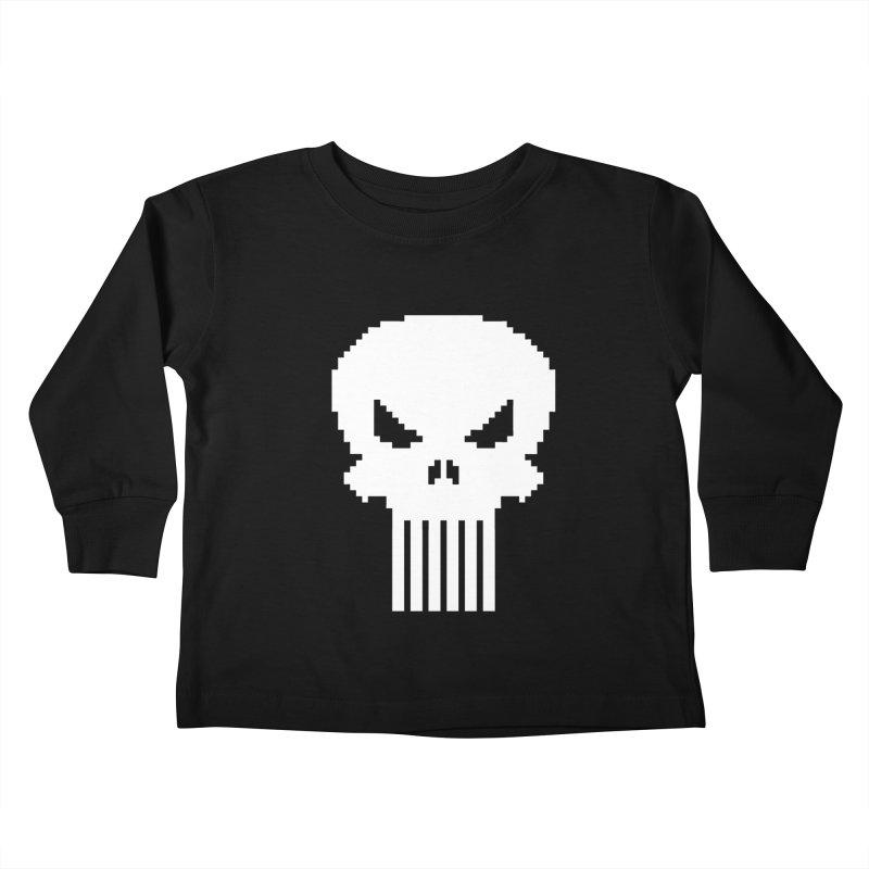 Punisher Classic - Pixel Logo Kids Toddler Longsleeve T-Shirt by Silli Philli Produktionz | Custom Prints